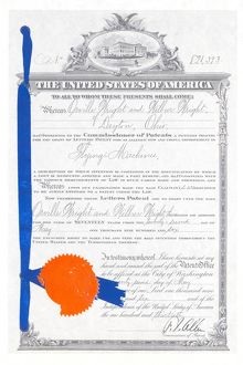 Wright Brothers' 1906 Patent
