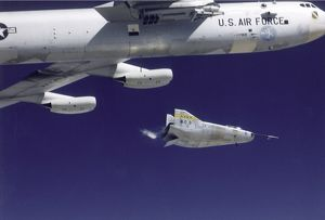 M2-F3 In-Flight Launch from the B-52 Mothership