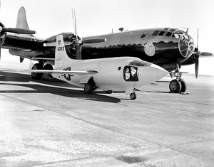 X-1-2 on Ramp with Boeing B-29